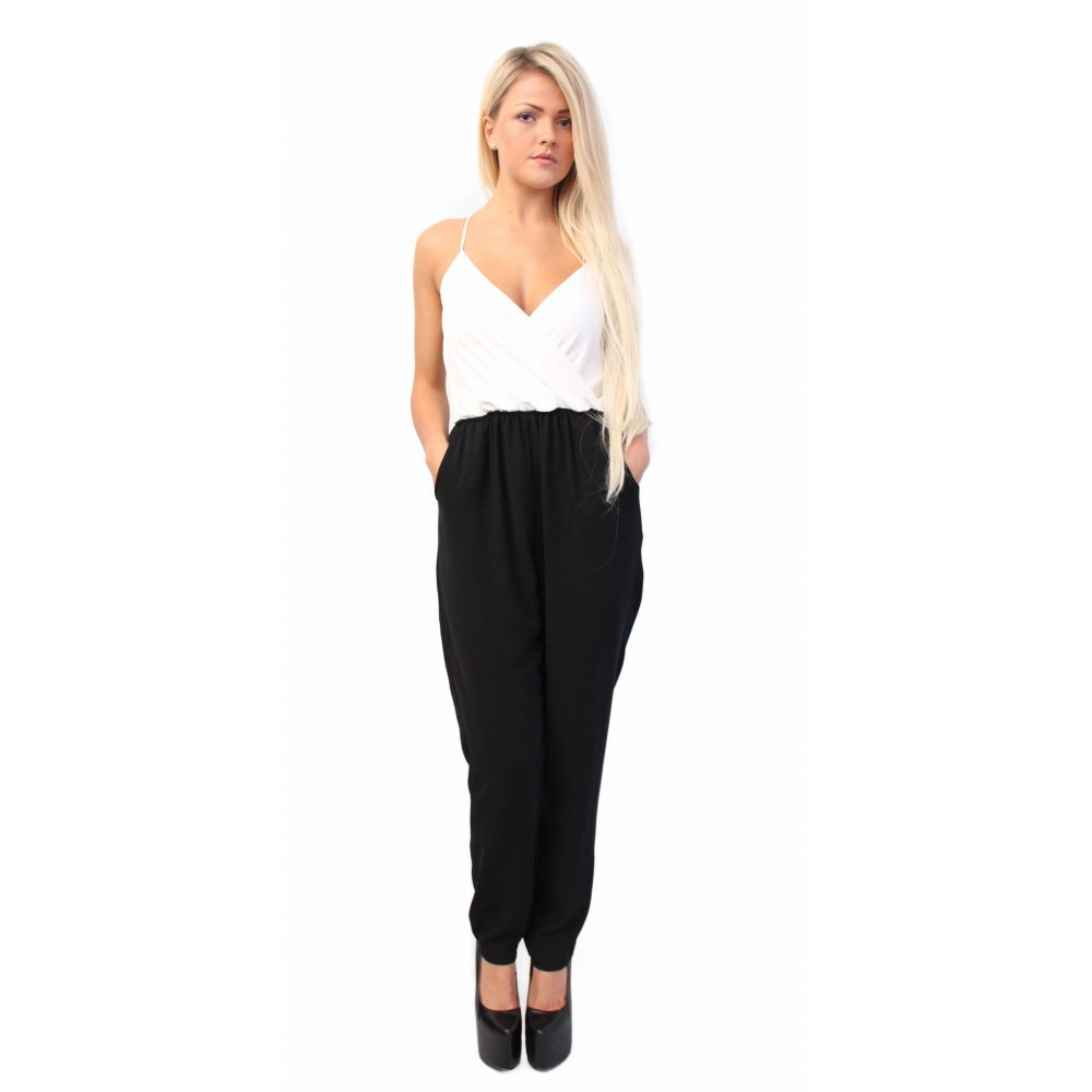 Images of White And Black Jumpsuit - Reikian