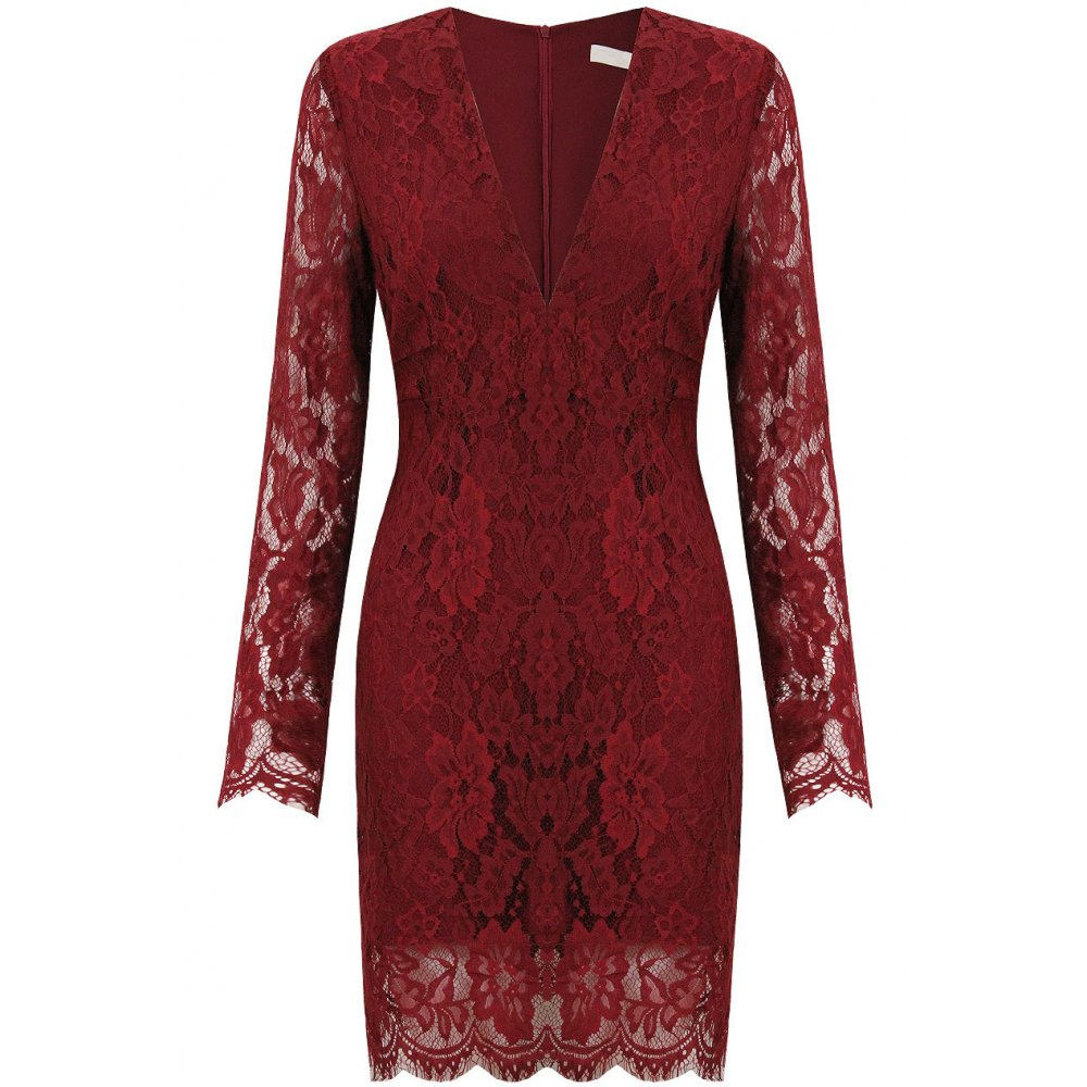 Lulus Exclusive! You'll be collecting notes from secret admirers right and left when you don the Lulus Love Poem Burgundy Lace Dress! A lively pattern of floral lace /5(K).