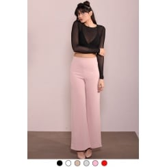 Baby Pink High Waist Wide Leg Trousers