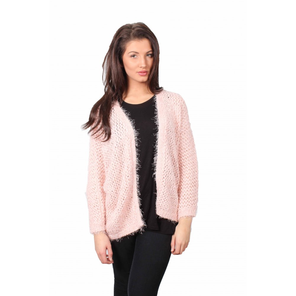 Practical and pretty, this lightweight, round neck cardigan is perfect for layering over casual and party outfits alike, with long sleeves to keep you warm. The sparkly button trim adds some fun to the cardigan, while the simple design keeps it versatile.