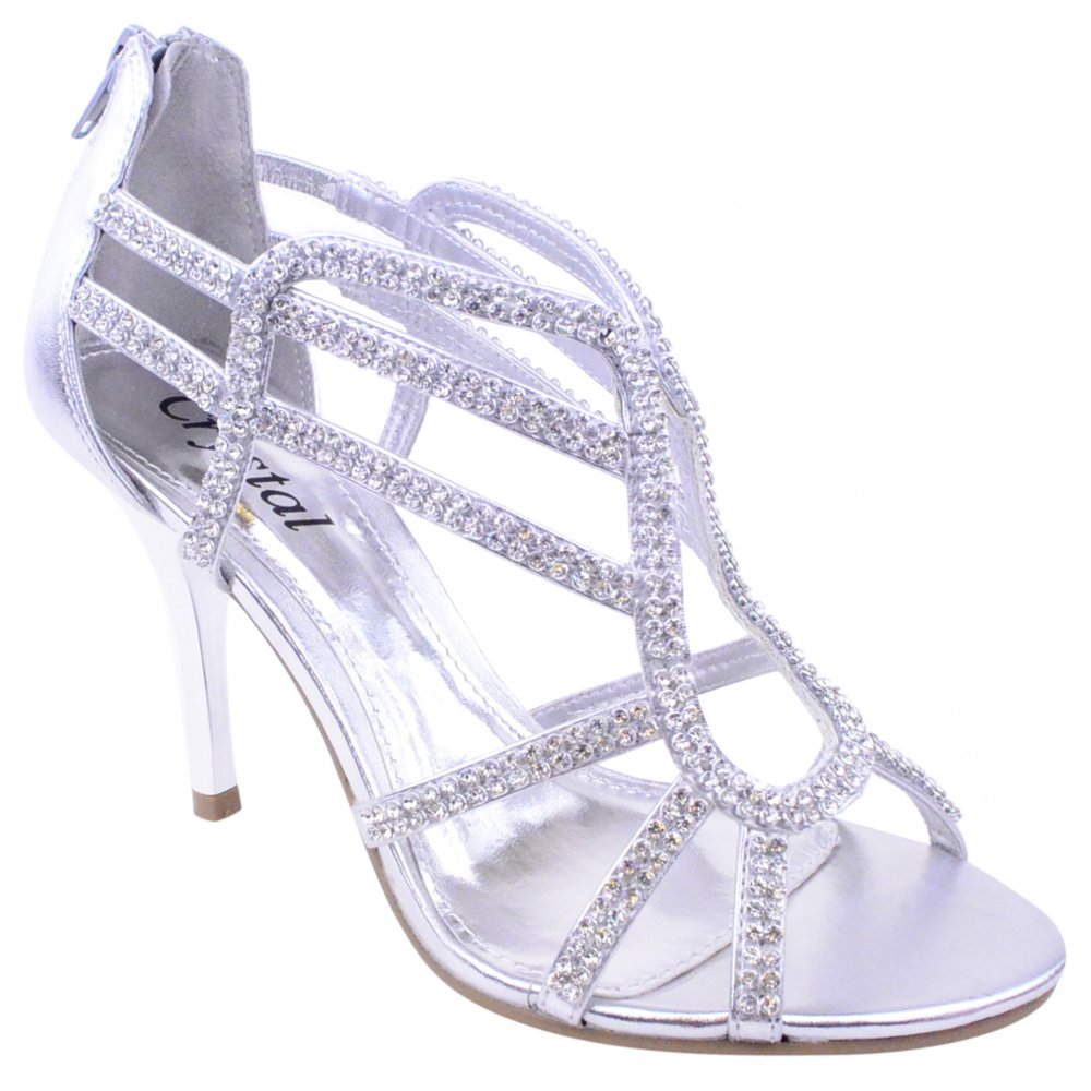 Silver Diamante Shoes Uk