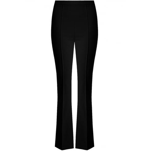 Black Back Pocketed Palazzo Pleated Long Trousers