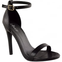 Black Barley There Strappy High Heel