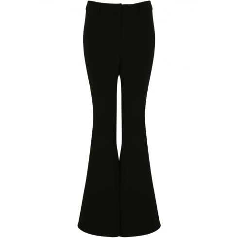 Black Bell Bottom Tailor Fit Trousers