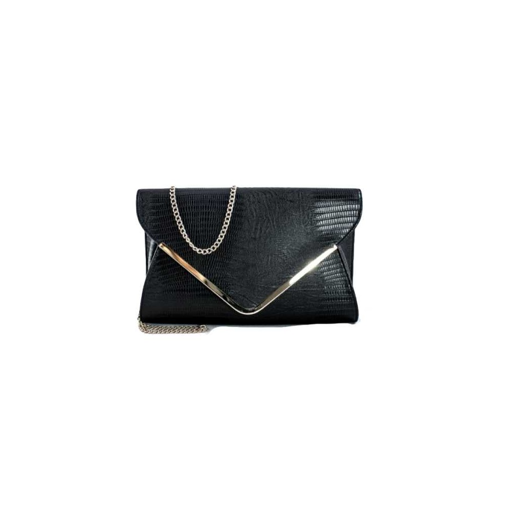71838d1c5d66 Black Envelope Clutch Bag