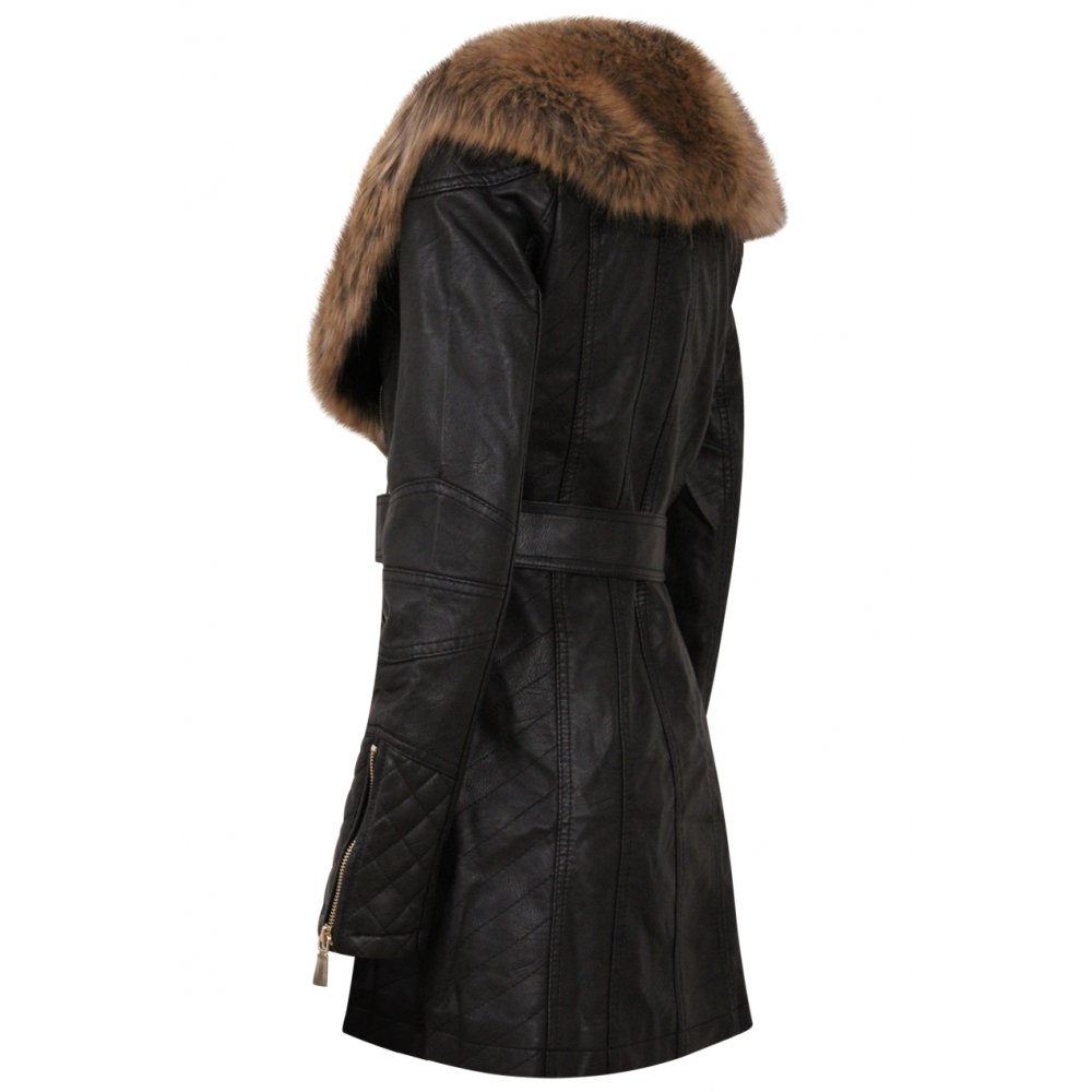 black jacket with faux fur collar