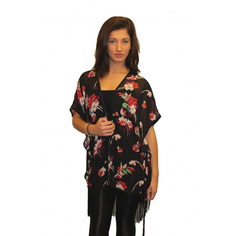 Women's Floral Chiffon Kimono Top - Ladies Sheer Flower 3/4 Sleeves Beach Cover Up for Bikini,Beachwear and Cardigan. by soul young. $ It's cut from contrast color fabric with pretty black and white blooms. SweatyRocks Women Kimono Vintage Floral Beach Cover Up. by SweatyRocks. $ - $ $ 7 $ 21 99 Prime.