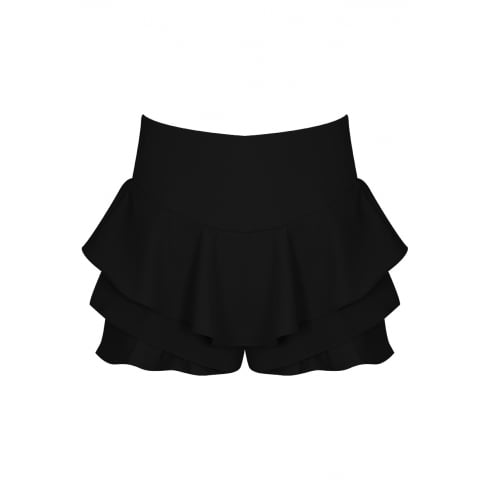 Black Frilled Skirt Look Shorts Skort
