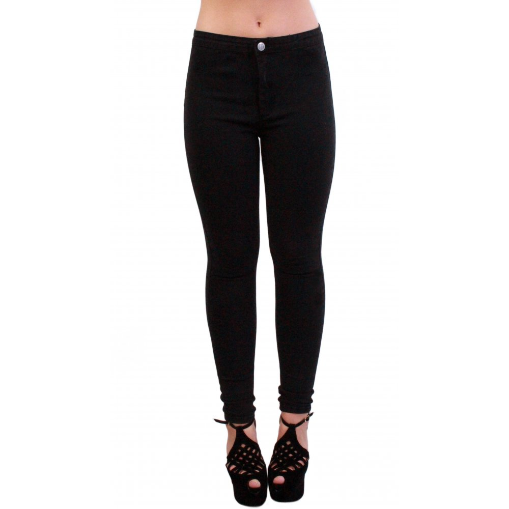 Black High-Waisted Skinny Jeans