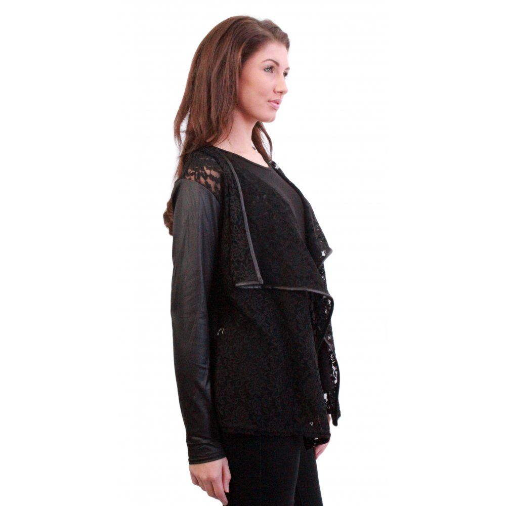 Buy low price, high quality black leather sleeve sweater with worldwide shipping on travabjmsh.ga