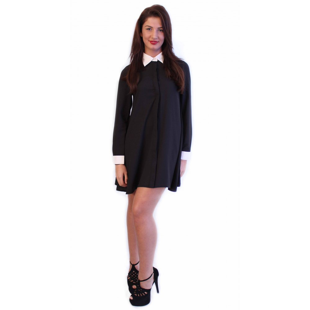 Creative Little Black Dress  LBD  Long Sleeve Dress  Shirt Dress  4400