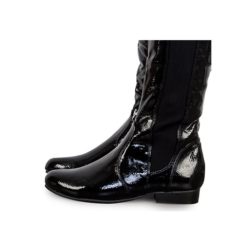 98a6d52c513 Brooke Black Patent Leather Over The Knee Boots