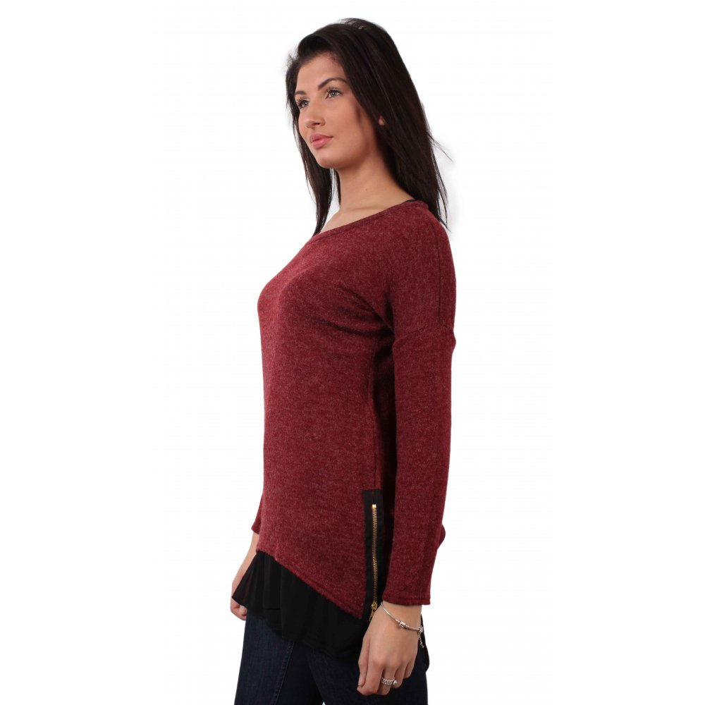 Find and save ideas about Burgundy sweater on Pinterest. | See more ideas about Maroon sweater, Burgundy sweater dress and Winter outfits for school.