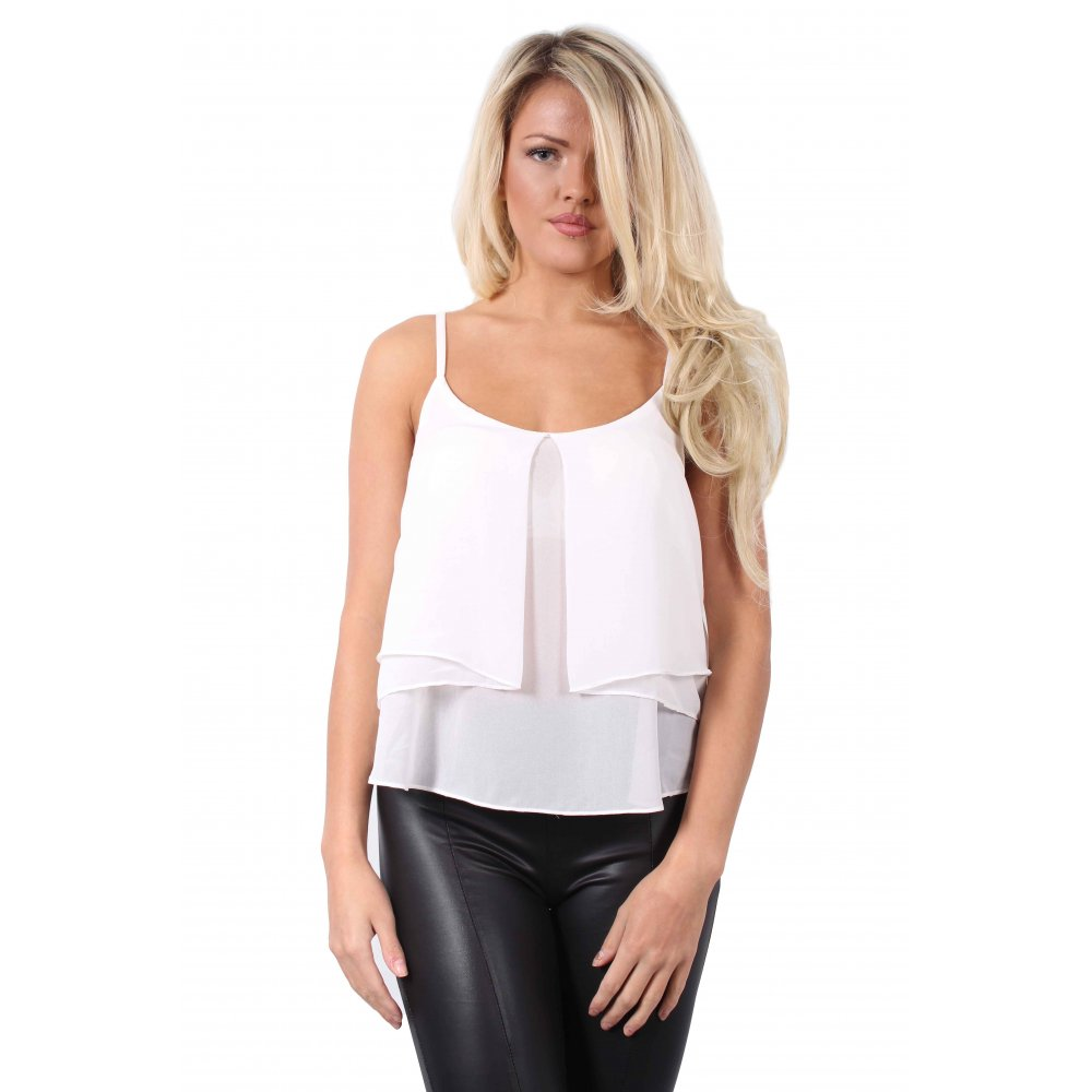 Shop Chiffon-Overlay Camisole Top. Find your perfect size online at the best price at New York & Company.4/4(6).