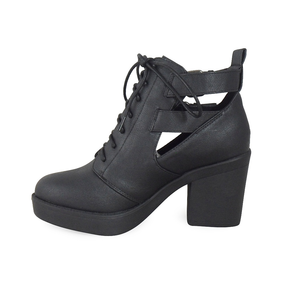 Lace Up Heel Ankle Boots