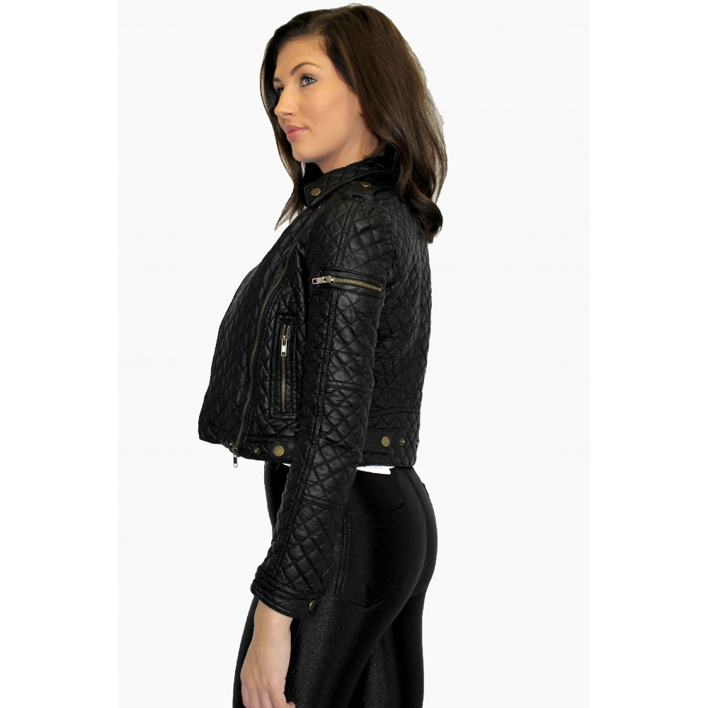 Leather Quilted Jacket : faux quilted leather jacket - Adamdwight.com