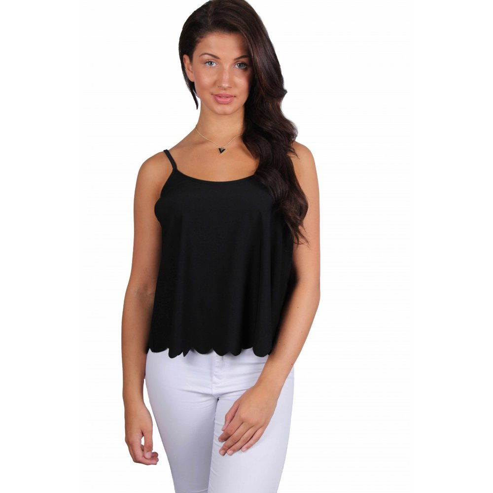 Fiona Black Cami Top - Parisia Fashion
