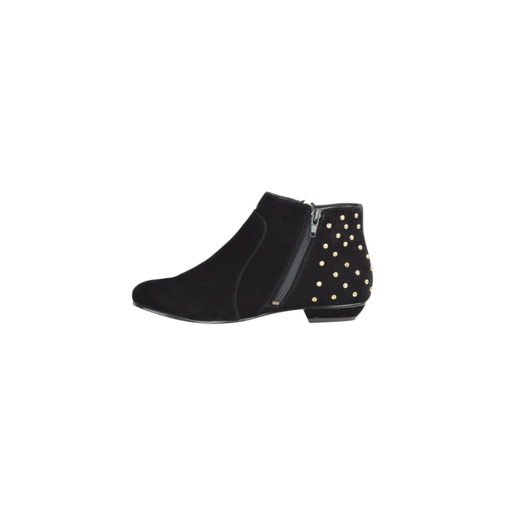 flat gold studded ankle boots from parisia