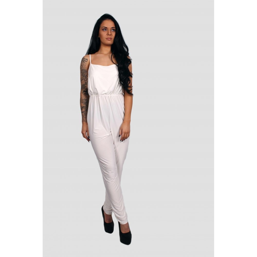 Gabby White Fitted Jumpsuit - Parisia Fashion