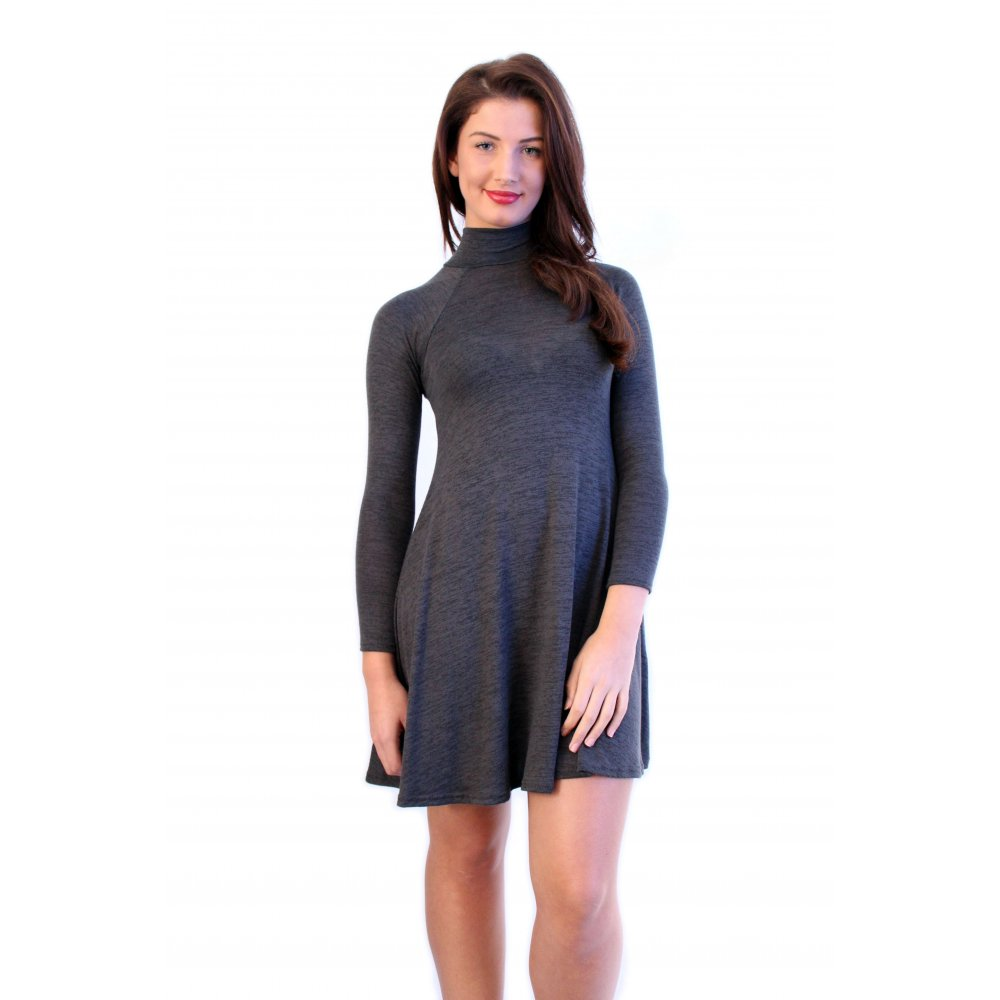 Turtle Neck Dress Fashion Dresses