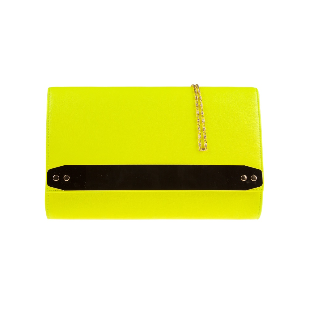 Jane over sized neon yellow clutch with gold strip detail from parisia jpg  1000x1000 Neon yellow 6e45039912a7e