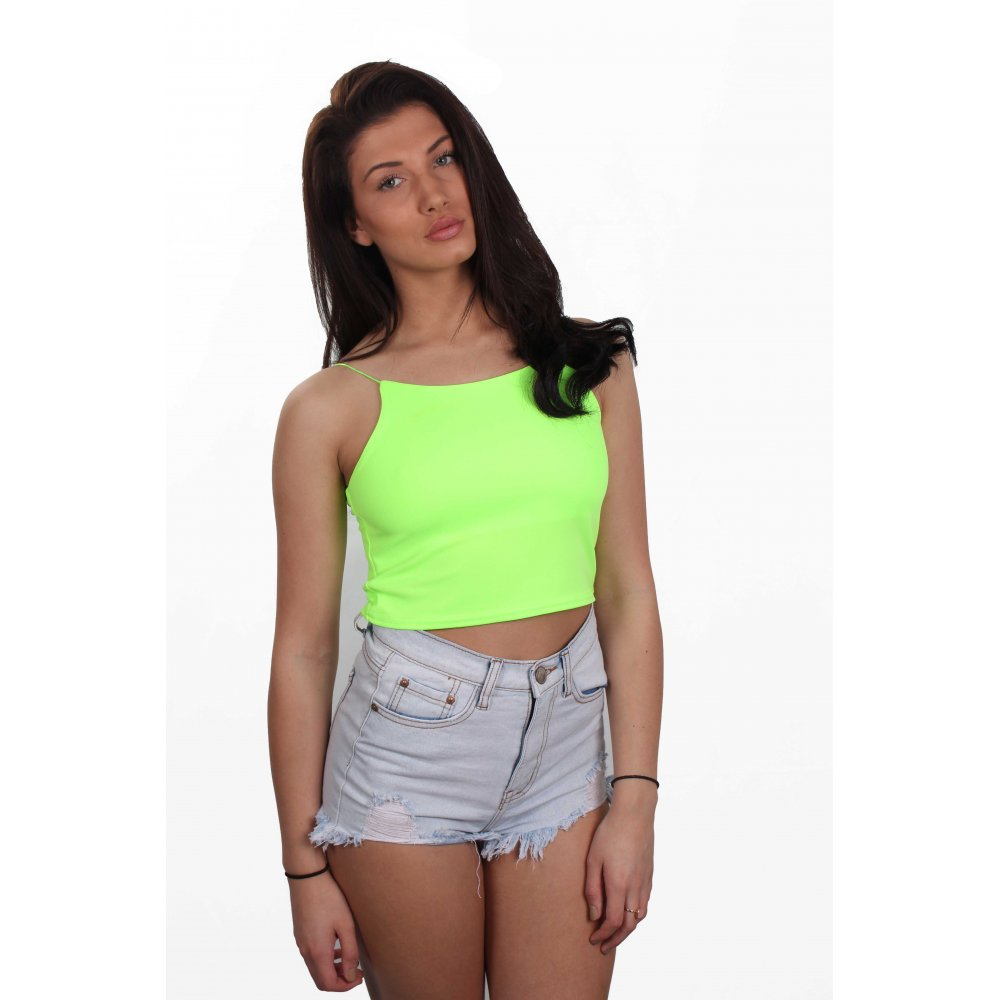 Neon Crop Top - *Photos always taken with no filters and with no editing or effects applied* *My items come from a pet free, mold free, and smoke free home* I do not model items but feel free to ask any other questions you might have! #daniellyscloset #neon.