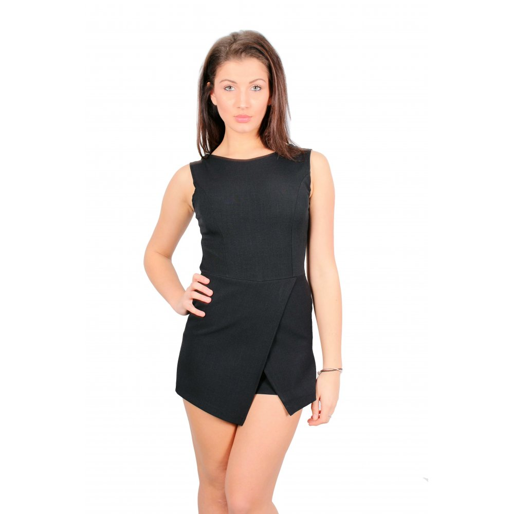 0f161ae0c10 Layla Black Sleeveless Skort Playsuit · Layla Black Sleeveless Skort  Playsuit ...