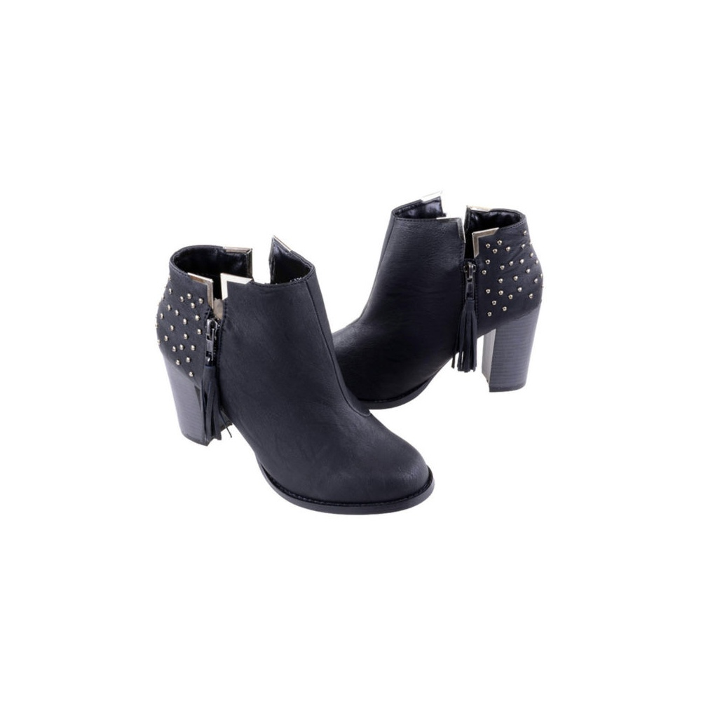 Black Studded Ankle Boots