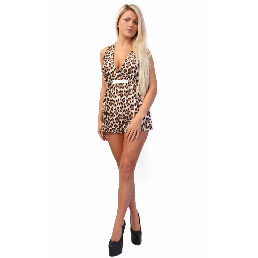 Leopard Print Playsuit - from Parisia Fashion UK bf71346e4