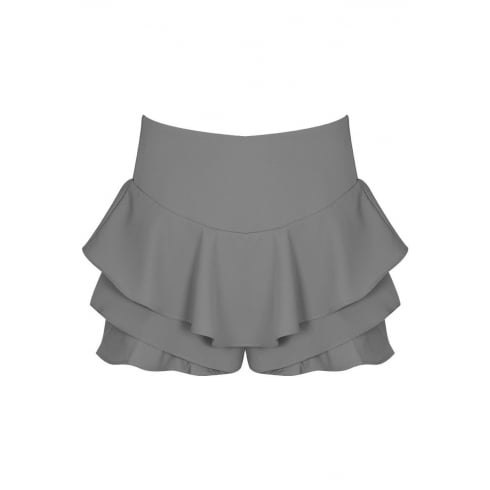 Light Grey Frilled Skirt Look Shorts Skort
