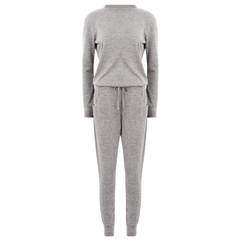 Light Grey Long Sleeve Top And Trouser Lounge Tracksuit