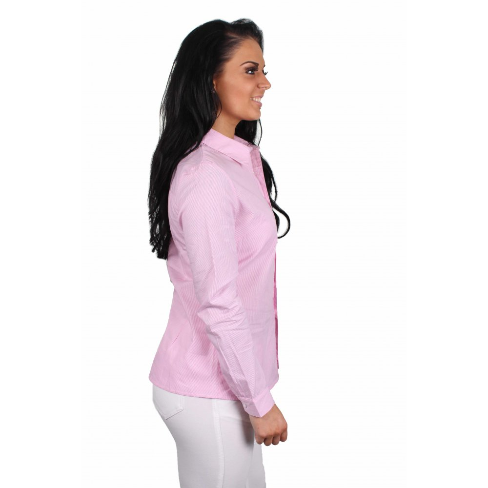 Mary Pink And White Pin Striped Shirt Parisia Fashion