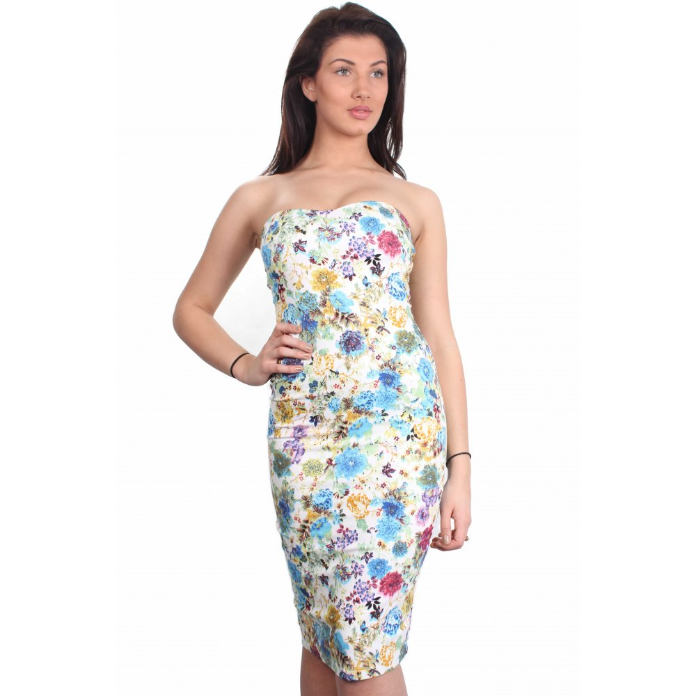 Home clothing dresses mia all over floral print bandeau