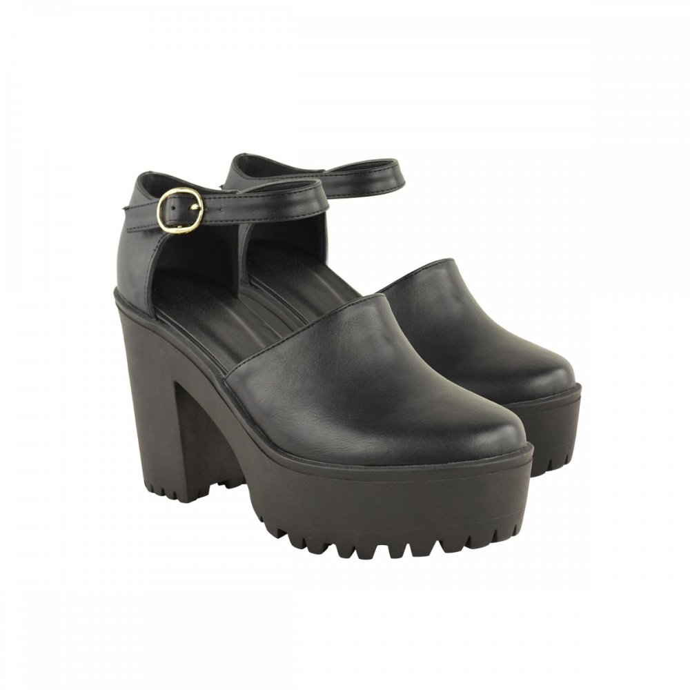 Block Heel Ankle Strap Shoes