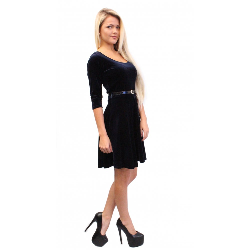 Navy Velvet Skater Dress · Navy Velvet Skater Dress ... 14af130d8