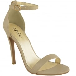 Nude Barley There Strappy High Heel