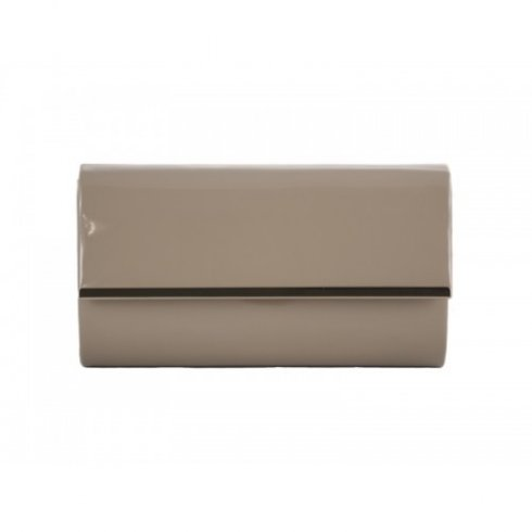 Nude Patent Clutch Bag