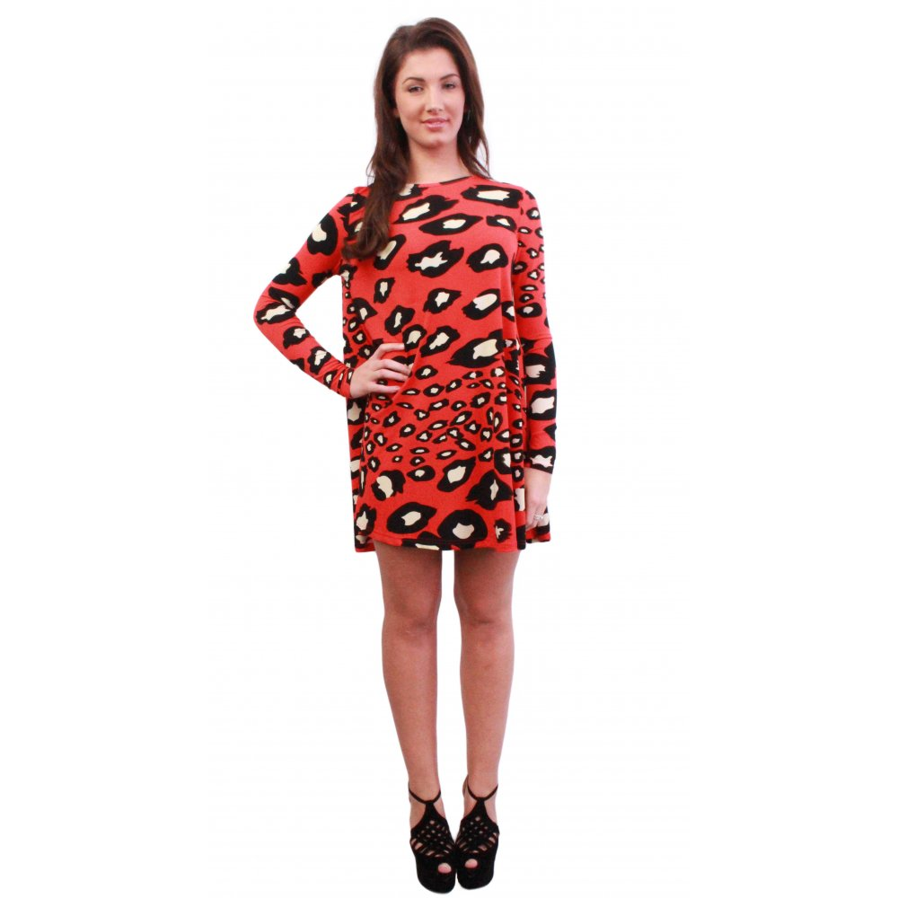 Red Leopard Print Swing From Parisia
