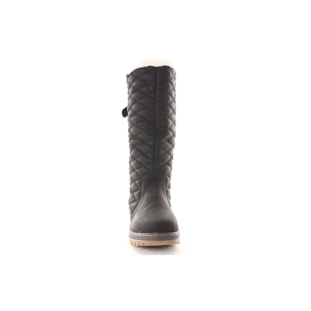 Paige Black Quilted Snow Boots From Parisia