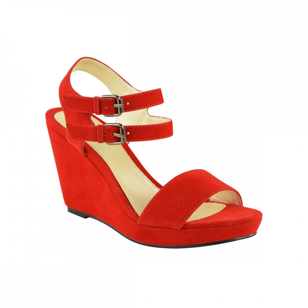 Shop red wedge shoes at Neiman Marcus, where you will find free shipping on the latest in fashion from top designers.