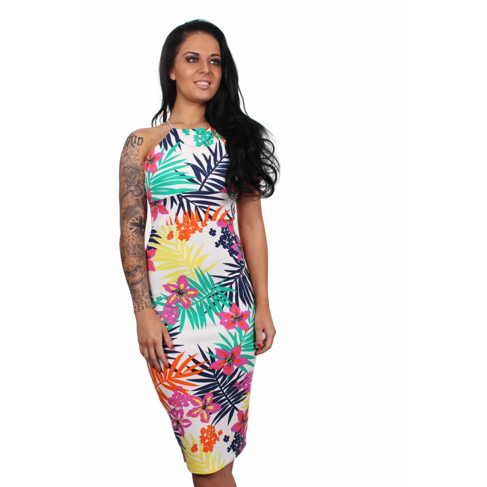 47d1410311 Ria Multi-coloured Floral Bodycon Dress From Parisia Fashion
