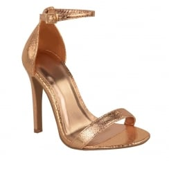 Rose Gold Barley There Strappy High Heel