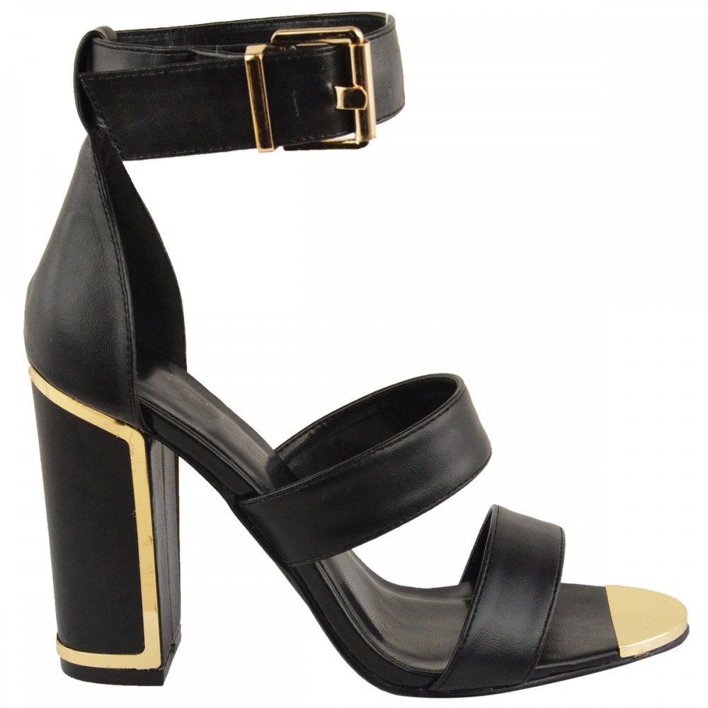 Black Heels With Gold Heel