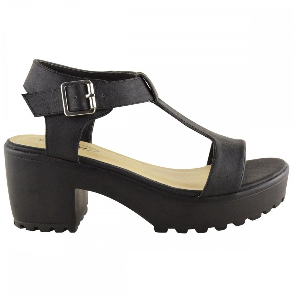 Chunky Block Heel Sandals - Is Heel