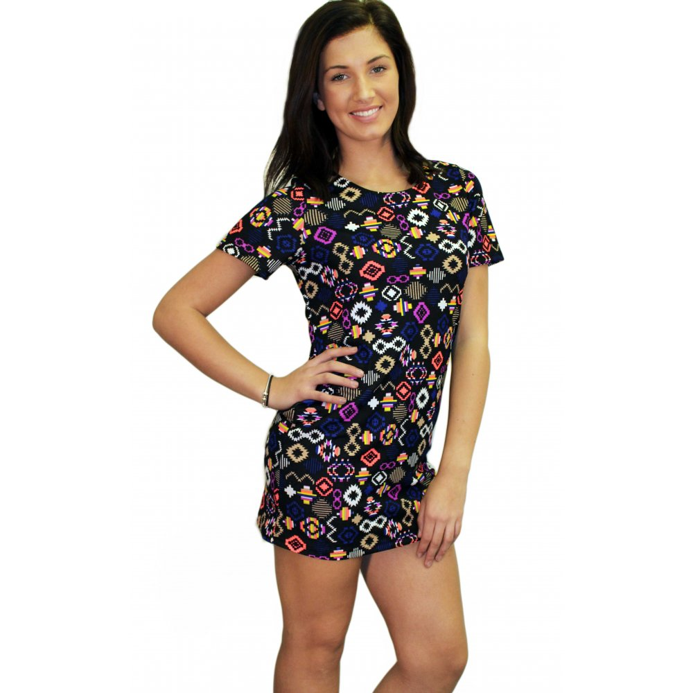 Pink Owl Apparel Tribal Print Dress from Oklahoma by One