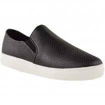 Vicky Black Snake Skin Plimsolls Casual Shoes