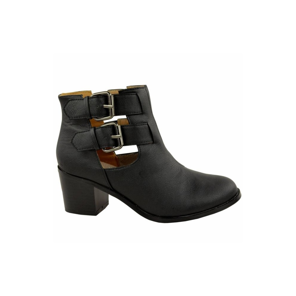 Ankle Boots with Heel and Buckle